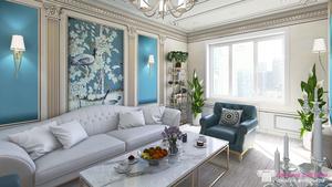 Дизайн-проект 4-комнатной квартиры в новостройке.